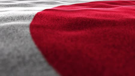 prezentaci : Japan Flag Textile Carpet Background, Animation, Rendering, Loop