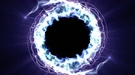 воздушный шар : Magical Particles Ring Abstract Background, Animation, Rendering, Loop.