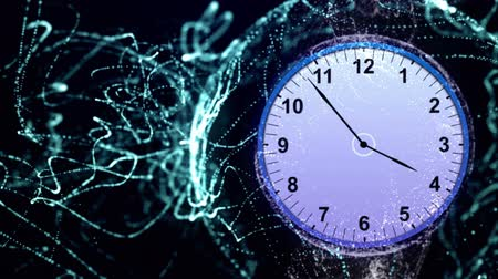 temporal : Clock in Particles Rings Animation, Rendering, Background