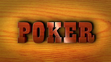 азартная игра : Poker Text Animation, Rendering, Background