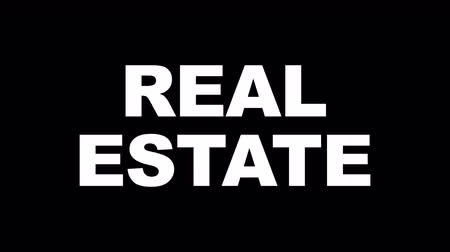 anahtar kelime : REAL ESTATE Glitch Keywords Animation, Rendering, Background, Loop