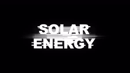 anahtar kelime : RENEWABLE ENERGY Glitch Keywords Animation, Rendering, Background, Loop Stok Video