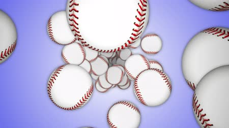 Falling BASEBALL BALL, Animation, Rendering, Background, Loop