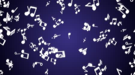 půltón : Falling Musical Notes Animation, Rendering, Background, Loop, with Alpha Channel