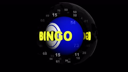 BINGO Text Animation Around Ball, with Alpha Channel, Rendering, Background, Loop