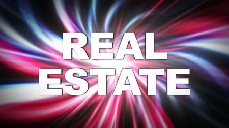 REAL ESTATE Glitch Keywords Animation, Rendering, Background, Loop