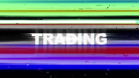 finanças : FOREX Glitch Keywords Animation, Rendering, Background, Loop. Stock Footage