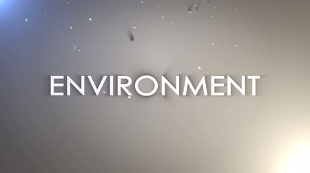 ECOLOGY Keywords Animation Explosion, Rendering, Background, Loop. Wideo