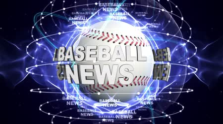 BASEBALL NEWS Around BALL Animation Background, Rendering, Loop.