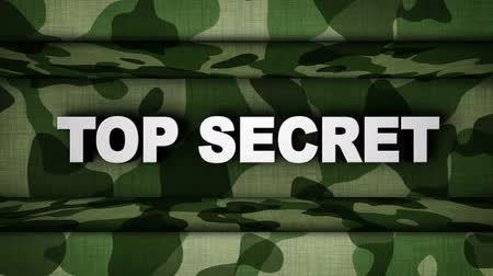 TOP SECRET Text Animation and Military Doors, Background, Rendering, Loop
