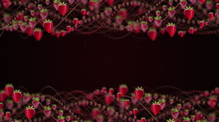 strawberry Fruits Animation, Rendering, Background loop.