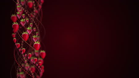 Strawberrys Fruits Animation, Rendering, Background, Loop Wideo