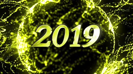 2019 New Year Animation Text, Background, Rendering, Loop
