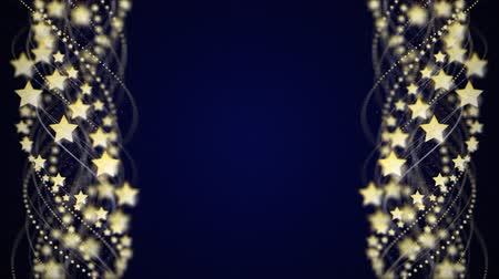 Silver Stars and Fibers Animation, Background, Rendering, Loop Wideo