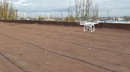 letadlo : Aerial drone flying in air