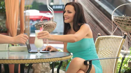 turmix : beautiful woman in Cafe