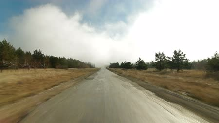 straight road : Driving in  mist