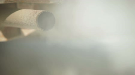 escape : Exhaust Pipe Smoking Stock Footage