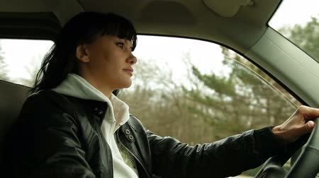 drive : woman driving Stock Footage