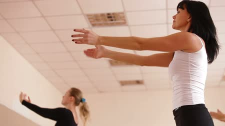 aeróbica : Women Exercising in Dance Studio