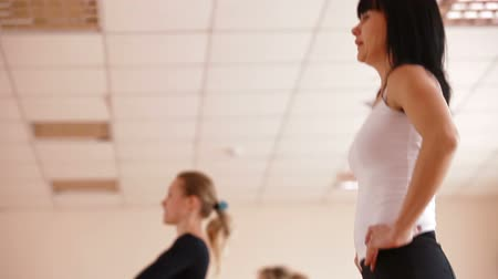 gym : Women exercising in Dance Studio