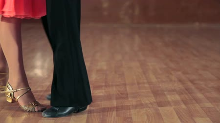 young dancers feet waltzing