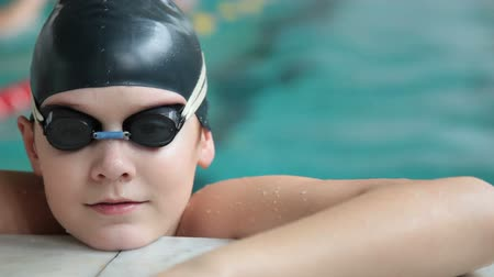 teen action : Young Swimmer Stock Footage