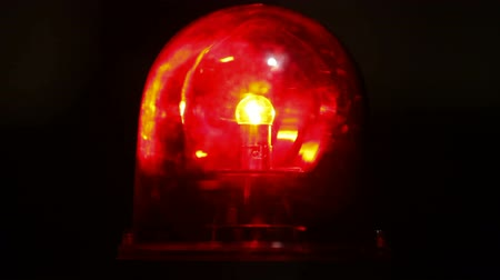 опасность : Red emergency light flashing