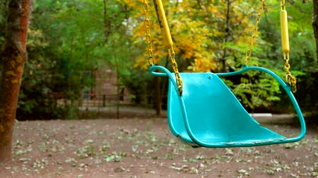 diferansiyel odak : swing in the autumn park