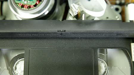 videocassette : Playback videotape in the VCR Close-up