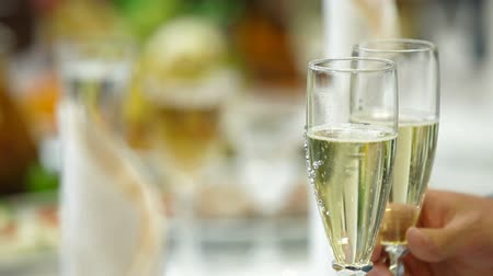 setting : Champagne Glasses At Wedding Reception