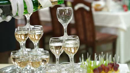 setting : Serving Champagne Reception Stock Footage