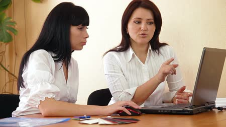 dialog : Business Colleagues Working On Laptop