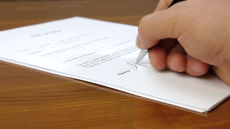 contracten : Hand Ondertekening contract