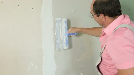 ceilão : Plastering a New Wall Stock Footage