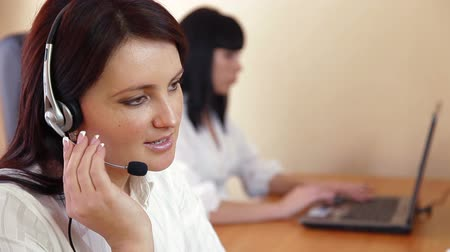 képviselő : Female Customer Service Representative Stock mozgókép