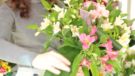 alstroemeria : Florist In Flower Retail Shop