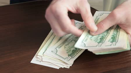 ötvenes : Male Hands Counting Cash Money US Dollars