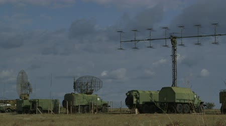 radars : Mobile military air defence system sweeping the local airspace