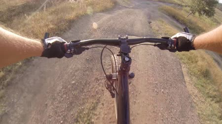 lovas : Onboard camera: Cyclist riding mountain bike