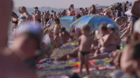 zsúfolt : Crowded Summer Beach