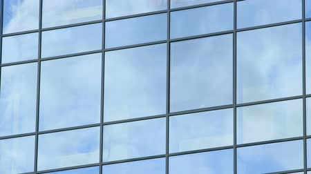 architektura : Business corporate building glass and steel background timelapse