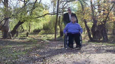 hemşirelik : Caregiver walking with disabled senior in wheelchair