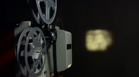 葡萄收获期 : Screening movies on vintage film projector 影像素材