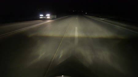 arrabaldes : Driving car at night highway