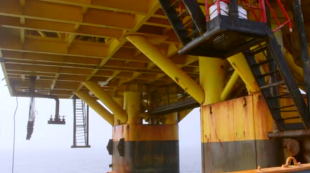 exploration : Piles of offshore fixed gas and oil production platform