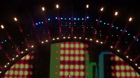 lighting equipment : Illuminated stage at rock concert