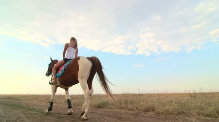cavalinho : Horseback riding vacations girl rider learns to ride in the saddle