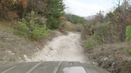 jumble : Off road driving on stony mountain track