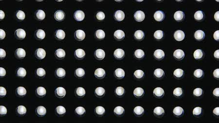 привело : Led light diodes display panel pattern close-up dolly shot Стоковые видеозаписи